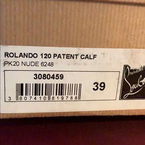 Sz 39 nude rolando 120 patent calf louboutin.